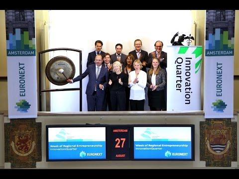 Week of Regional Entrepreneurship – InnovationQuarter sounds gong at Euronext Amsterdam