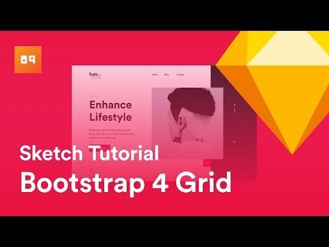 Sketch Tutorial , Design Website using Bootstrap 4 Grid