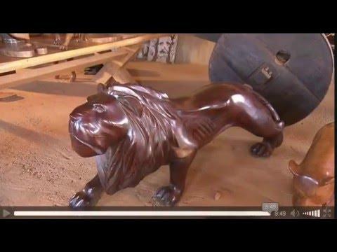 Terra de Minas:  familia de Prados se dedica a produzir peças de madeira...(Artesanato 5 irmaos)