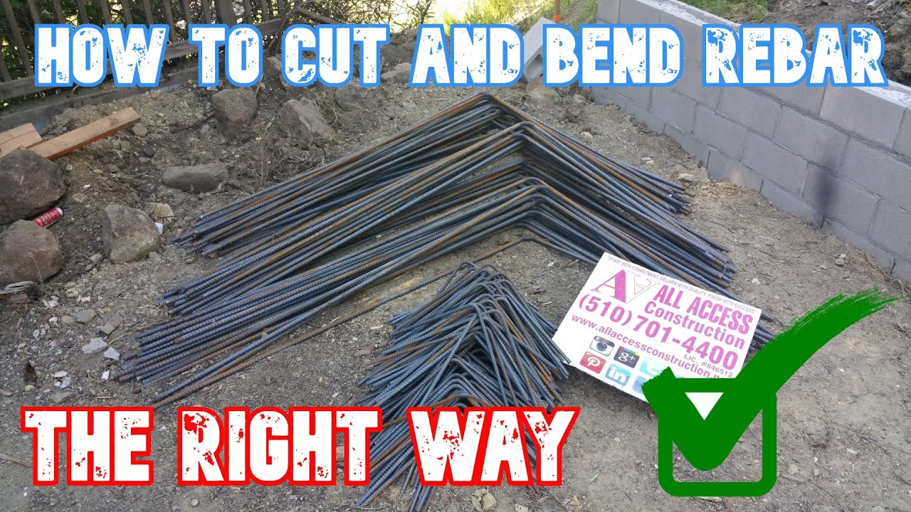 How To Cut And Bend Rebar For Concrete Footing     All