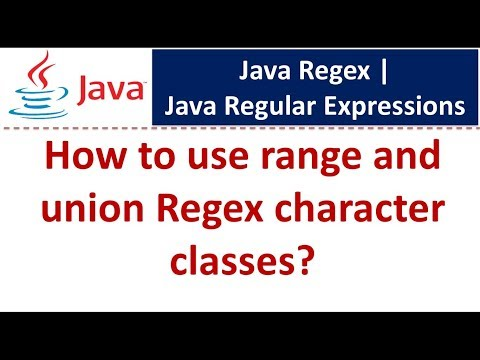 How to use range and union Regex character classes | Java Regex