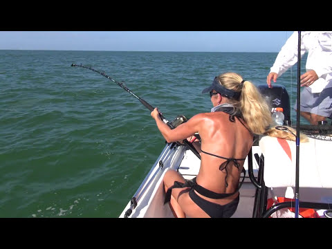 Best Fishing Fail Video: Big SHARK tries to pull girl overbo