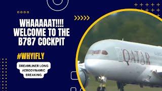What is he doing ? Dreamliner Long Aerodynamic Breaking during landing Edinburgh Airport