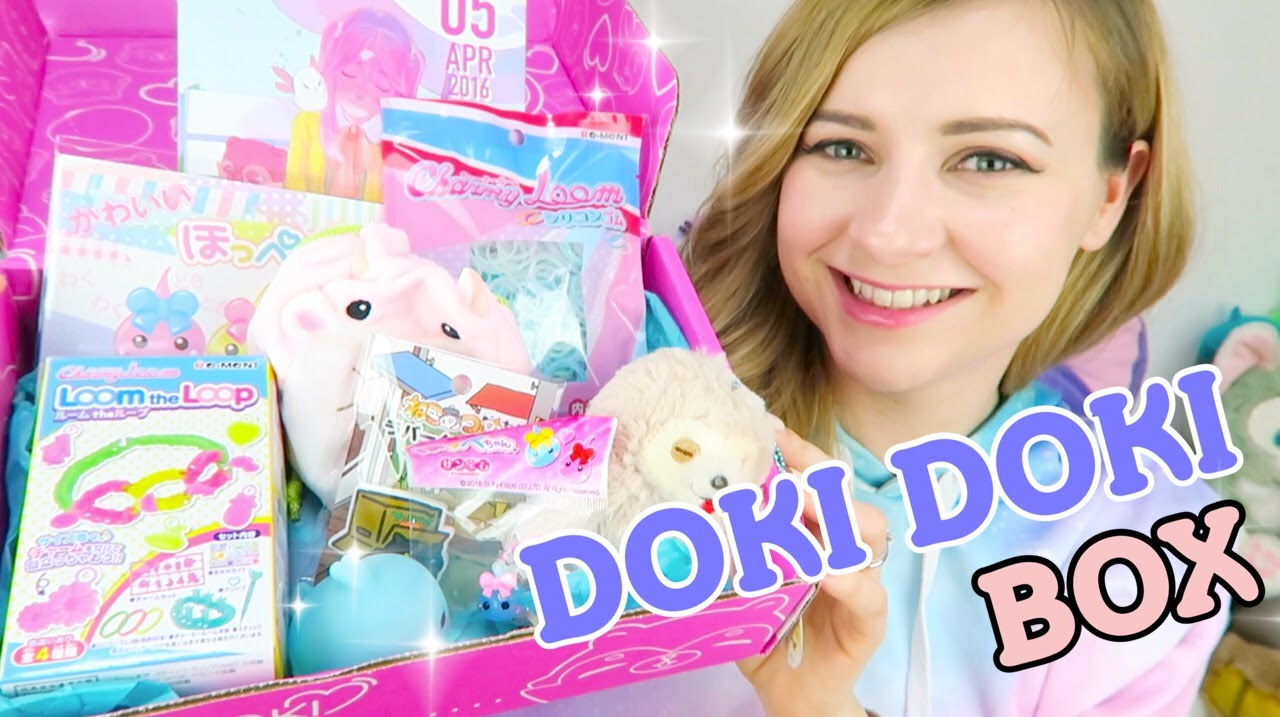 Cute Japanese Toys : Doki crate unboxing april cute japanese toys