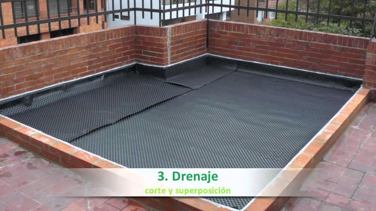 Proceso constructivo de un techo verde groncol youtube for Como construir una piscina economica