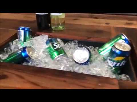 Coffee Table with built in cooler  DIY