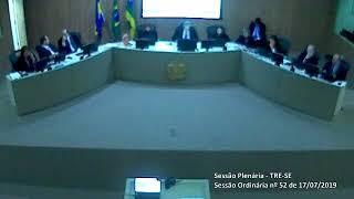Sessão Plenária do TRE-SE (17/07/2019)