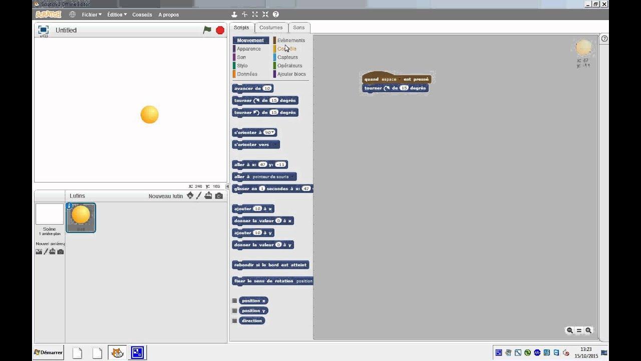 Comment faire rebondir une balle sur scratch youtube - Comment faire une saumure ...