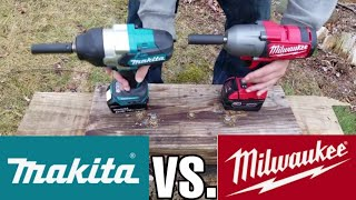 Milwaukee (2763) vs. Makita (XWT08Z) High Torque Impact Wrench Lag Bolt Face Off