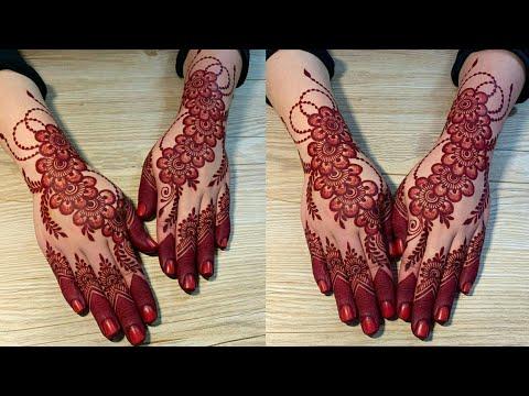 Stylish And Trendy Backhand Mehndi Design Easy Backhand Mehndi Design New Mehndi Design Youtube