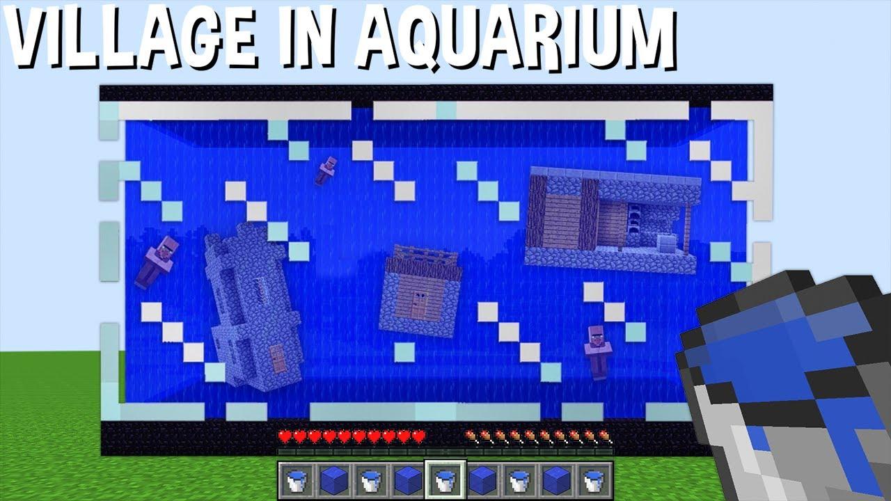 VILLAGE in AQUARIUM but HOW did it HAPPEN in Minecraft ? UNDERWATER VILLAGE !