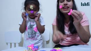 Ishfi & Aunty Make funny face with gelli blobz