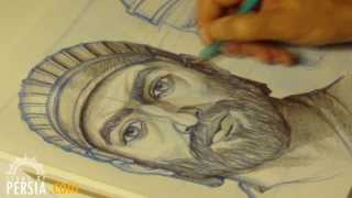 Cyrus the Great from sketch to statue ..... مجسمه کوروش بزرگ