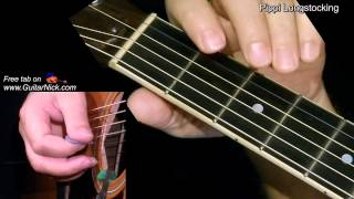 PIPPI LONGSTOCKING: Easy Guitar Lesson + TAB by GuitarNick