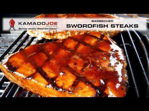 Kamado Joe Barbecued Swordfish Steaks