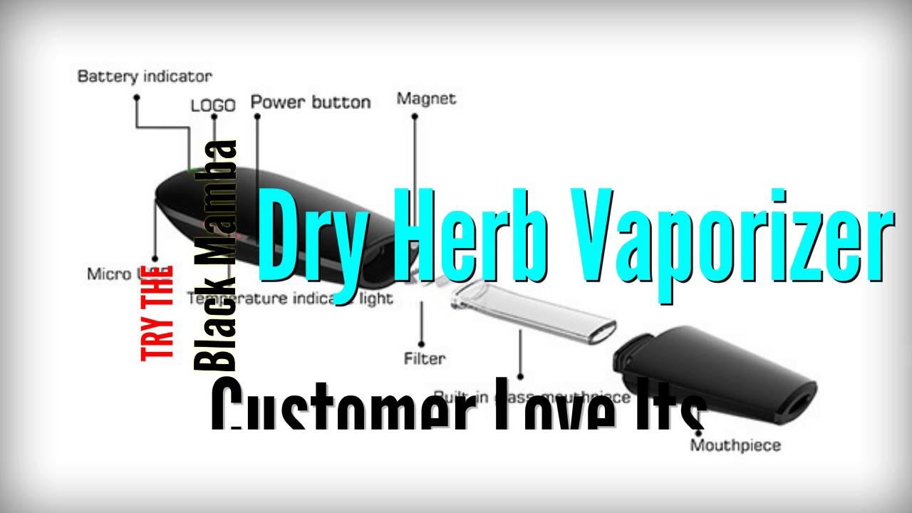 Black Mamba Dry Herb Vaporizer Review & Where To Buy - New Vapor .