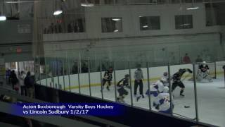 Acton Boxborough Varsity Boys Ice Hockey vs Lincoln Sudbury 1/2/17