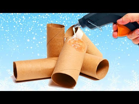TOP 5 AWESOME CHRISTMAS CRAFTS made with cardboard BOXES   5 DIY Christmas Recycled Decoration