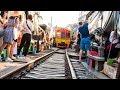 Unbelievable Market on Train Tracks