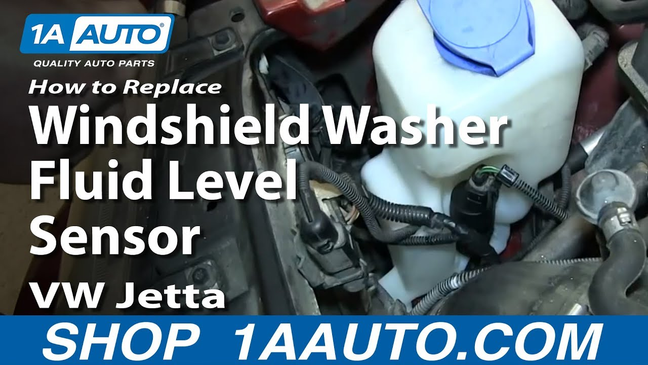How To Replace Windshield Washer Fluid Level Sensor 2000-06 VW Jetta ...