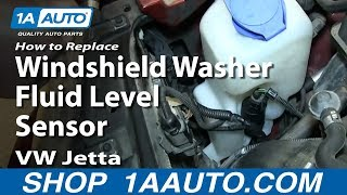 How To Replace Windshield Washer Fluid Level Sensor 2000-06 VW Jetta and Golf