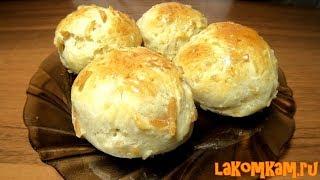 Булочки с колбасным сыром. Рецепт за 40 рублей