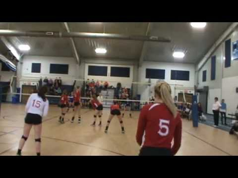 M2U00767.MPG Stephanie (#5) Owego Free Academy Volleyball 2012