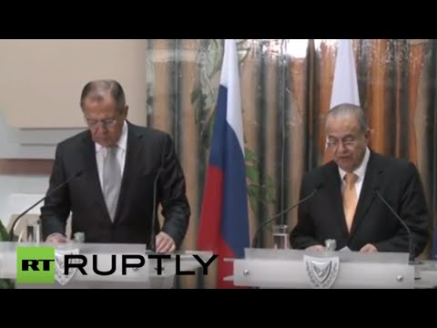 LIVE: Lavrov holds press conference in Nicosia, Cyprus - English Audio