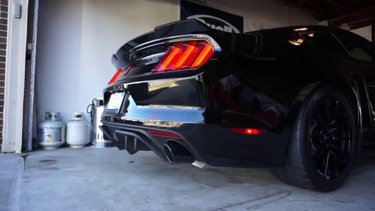 2015 Mustang GT Borla ATAK exhaust cold start - YouTube