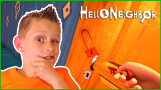 Red Key MINI GAME in Hello Neighbor