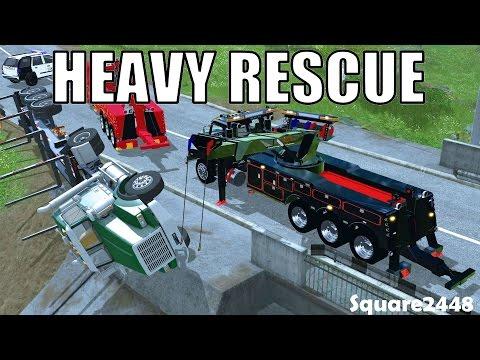Farming Simulator 17 Heavy Rescue - Rolled Over Semi