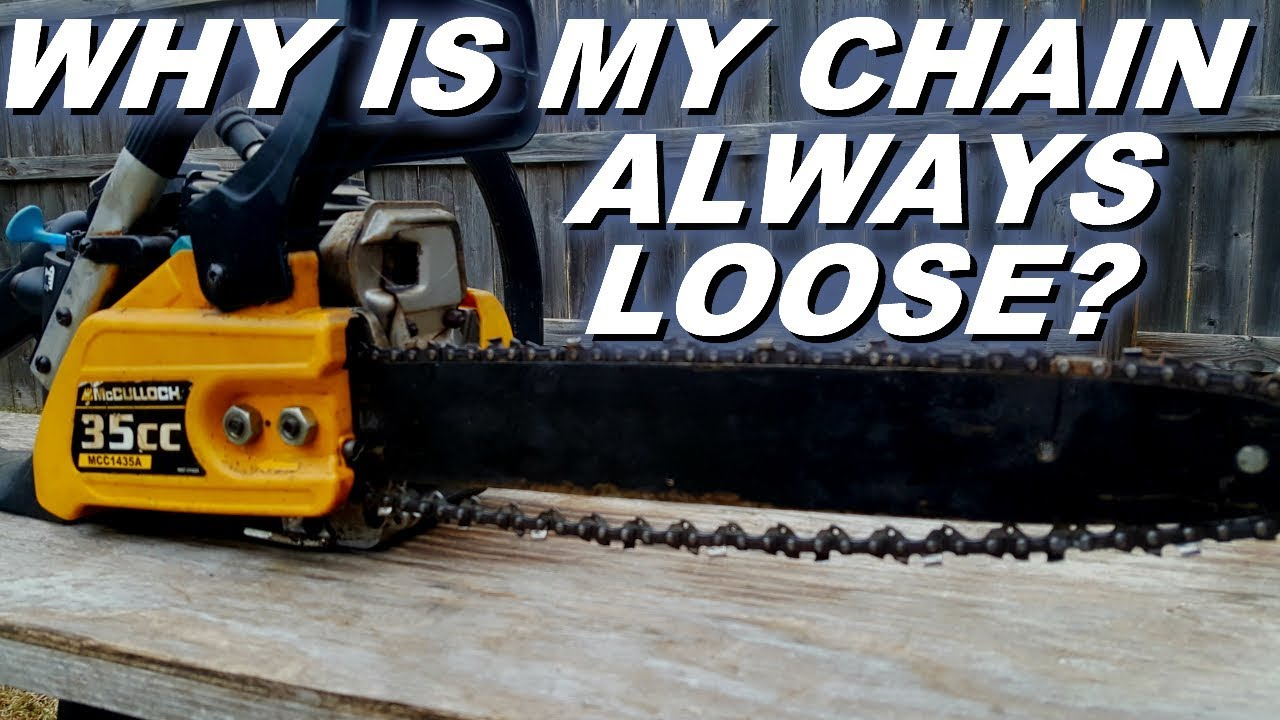 Mcculloch chainsaw has a problem with a loose chain youtube mcculloch chainsaw has a problem with a loose chain keyboard keysfo Choice Image