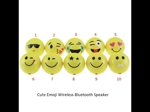 Super Cute Emoji Mini Wireless Bluetooth Speaker
