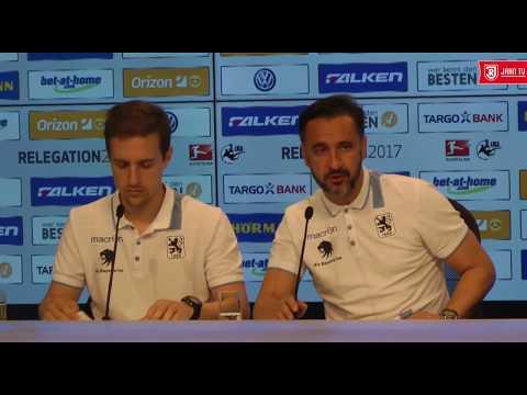 Pressekonferenz nach dem Relegations-Rückspiel gegen den TSV 1860 München