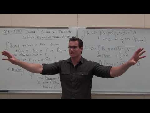 Surface And Flux Integrals, Parametric Surf., Divergence/Stoke's Theorem: Calculus 3 Lecture 15.6_9