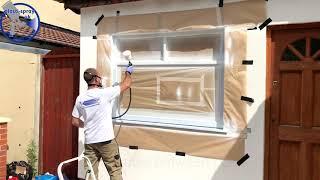 uPVC window spraying  PlastiSpray UK