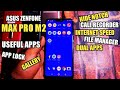 Asus Zenfone Max Pro M2 Top Useful Apps Review | Hide Notch, Call Recorder, App Lock , File Manager