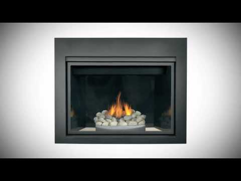 Napoleon HDX40 Direct Vent Clean Face Gas Fireplace - HDX40NT-1SB