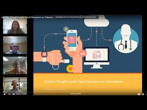 Industry Thought Leader Panel Discussion On Telemedicine 2019
