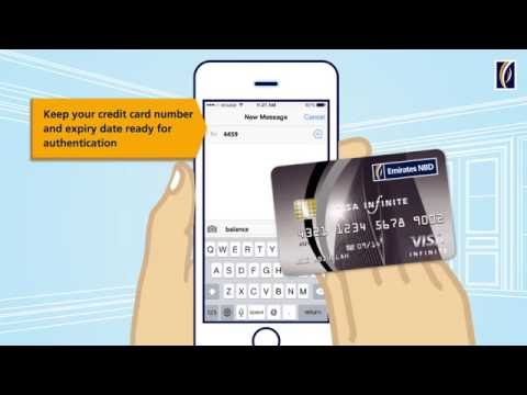 Check Your Emirates NBD Credit Card Balance with Text2Call تحقق من رصيد بطاقة الائتمان عبر TEXT2CALL