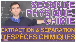 Extraction et séparation d'espèces chimiques - Physique-Chimie - Seconde - Les Bons Profs