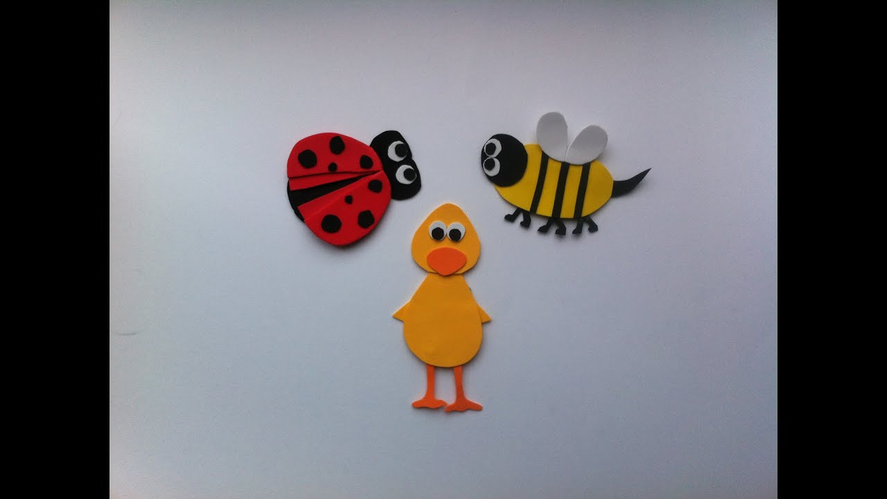 Learning Color's for Children in English.  The Duck, The Bee & The Lady Bug Story.