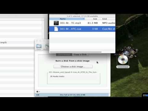 Burn .CUE + .MP3 into CD Free on Mac