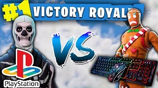 FORTNITE PS4 PRO PLAYER CARRIES PC PLAYER TO A WIN!! (HILARIOUS ENDING)