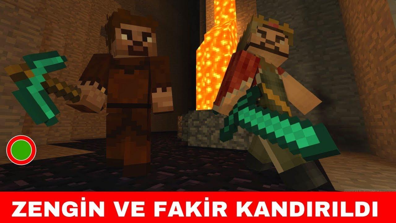 Zengin Vs Fakir 220 Zengin Ve Fakir Kandirildi Minecraft Youtube