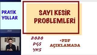 SAYI KESİR PROBLEMLERİ 8. KISIM (MUM SORU TİPLERİ) 2020 DGS TYT ALES KPSS