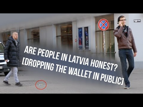 Are People in Latvia Honest? [Dropping the Wallet in Public]