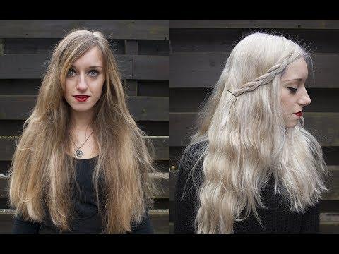 how to white silver grey hair khaleesi daenerys targaryen game of thrones rocknroller