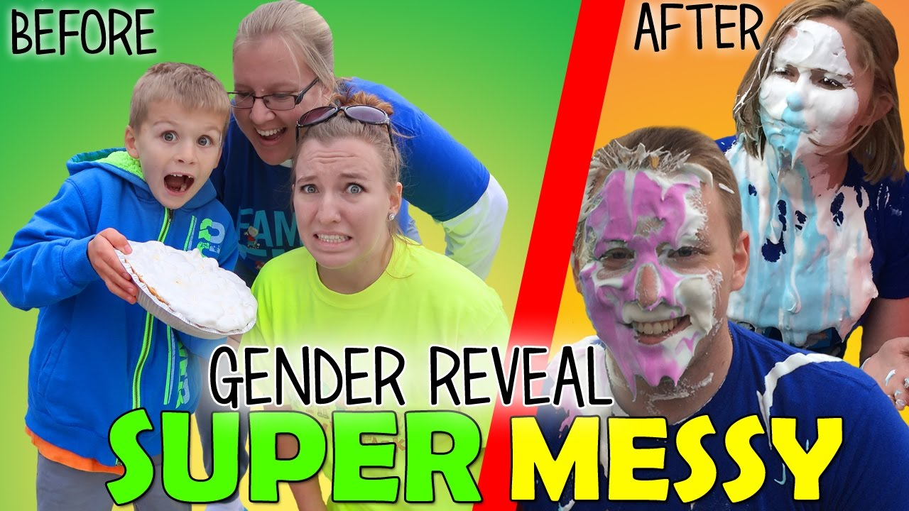 Family Fun Pack Aunt & Uncle Gender Reveal – Super Messy!!