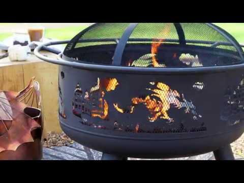 DRAGON-THEMED STEEL FIRE PIT SKU# YD6666 -  Wind & Weather